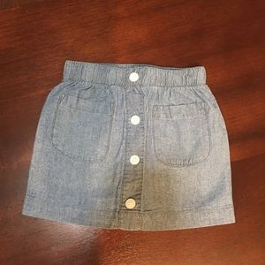 Carter's 2-pc chambray skirt and bike shorts 4T
